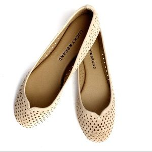 NEW - NO BOX Lucky Brand Enorahh Perforated Flats